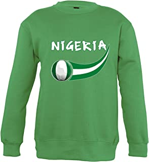 Supportershop Sweatshirt Nigeria Unisex Bambino, Verde, Fr: XL (Dimensioni Produttore: 10Anni)