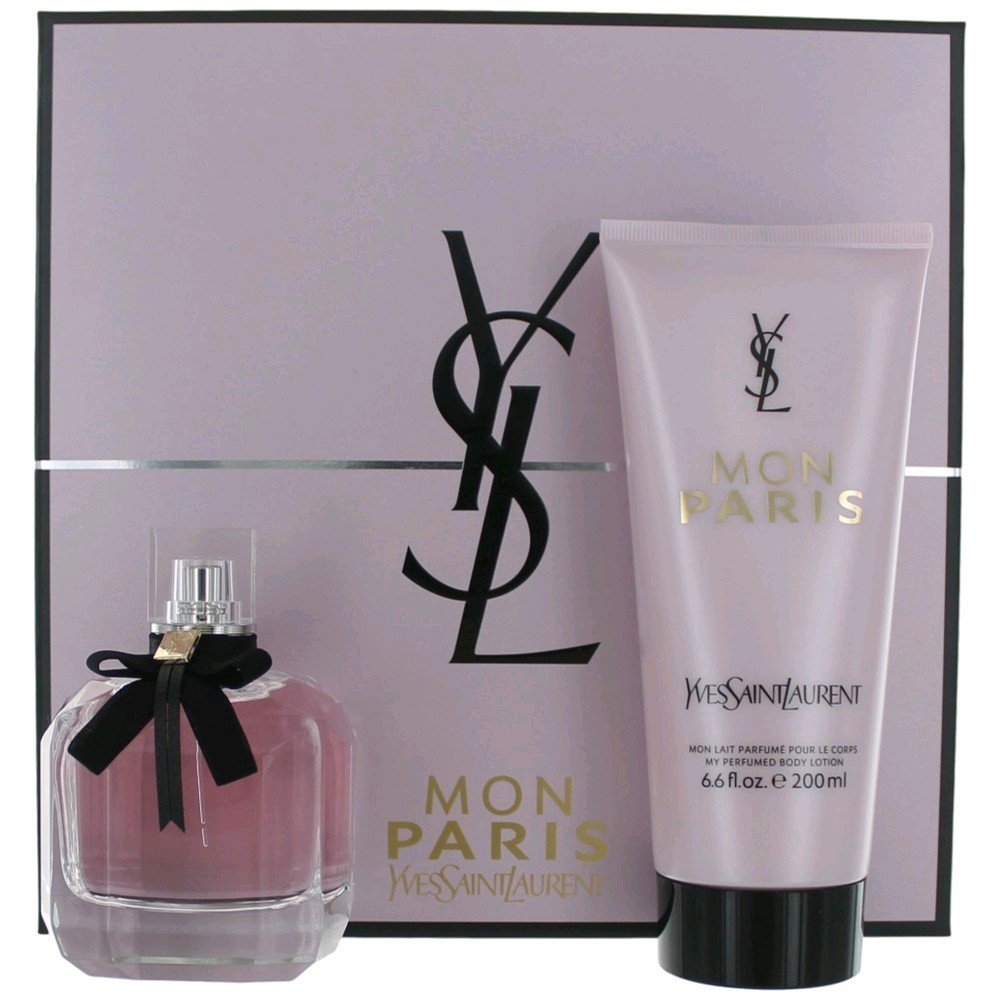 Mon Paris by Yves Saint Laurent for Women Set 3.0 oz EDP Spray + 6.6 oz Body Lotion by Yves Saint Laurent
