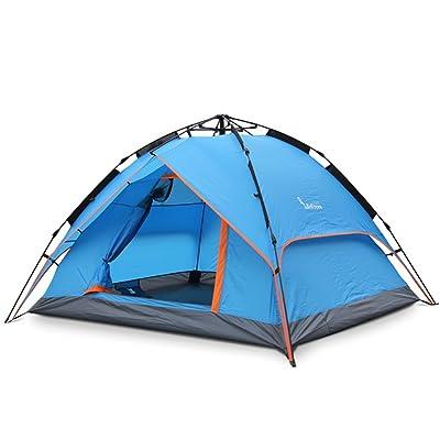 3-4 personnes Double Couche Automatique Tente Terrain de camping en plein air Rainproof Free Ride Speed pour ouvrir Tent Package