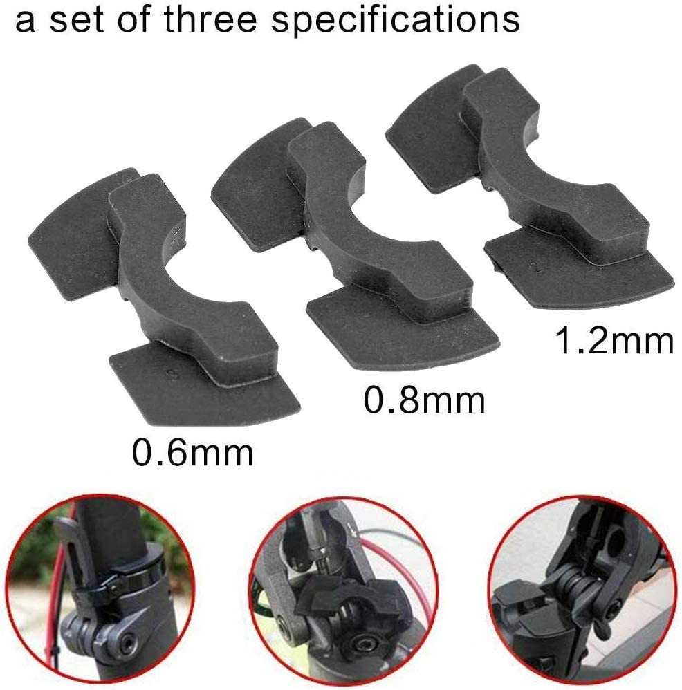 chuancheng 3 Pack Rubber Vibration Dampers 0.6mm 0.8mm 1.2mm for Xiaomi M365 Electric Scooter Replacement Part