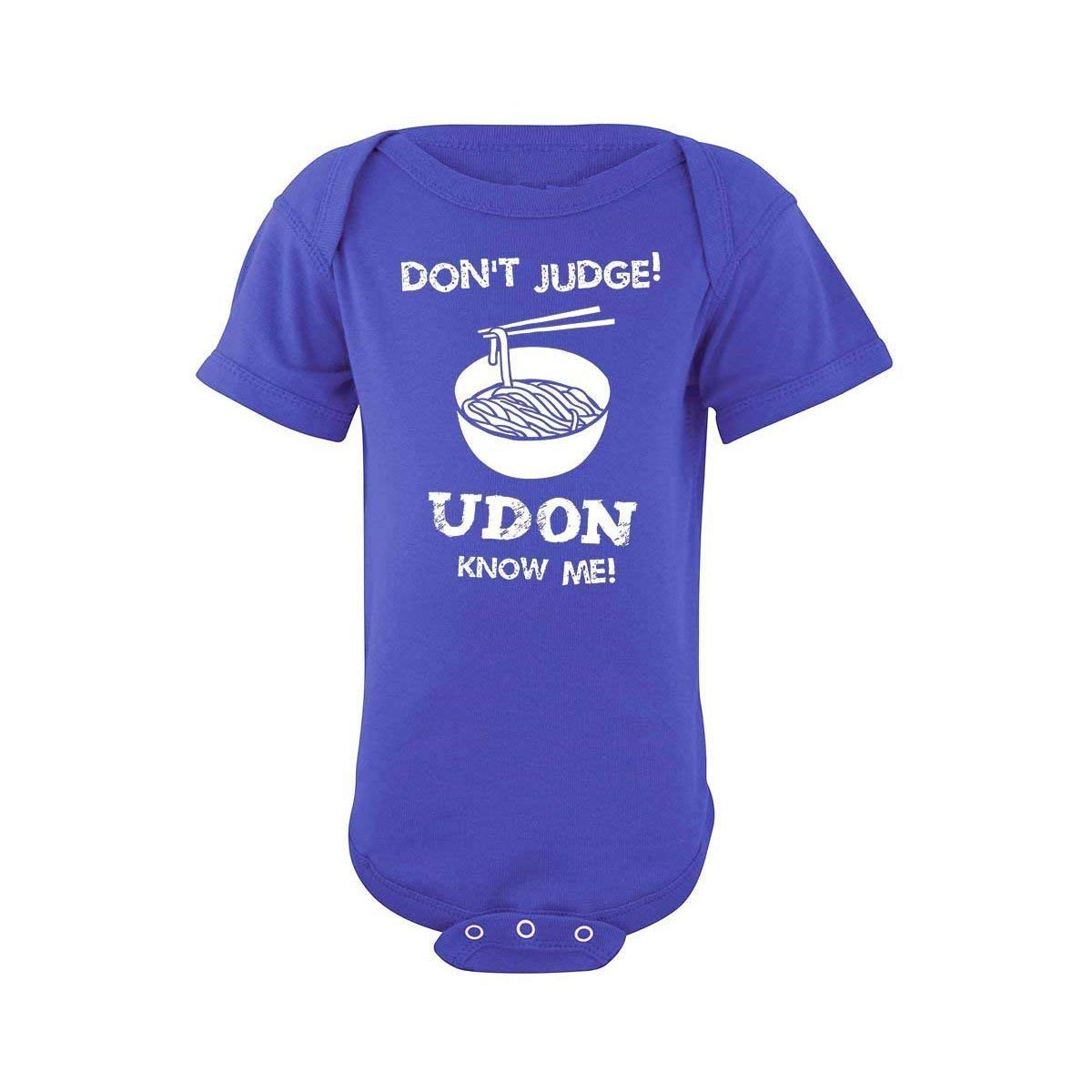 Baby Noodle Onesie Infant Funny Asian Japanese bodysuit Dont Judge Udon Know Me
