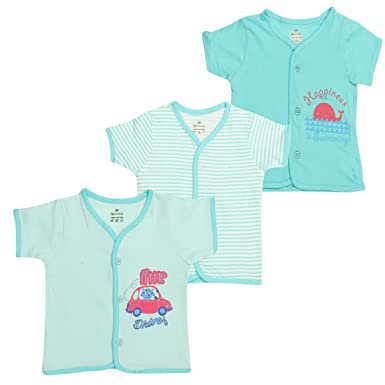 d6c99a28d Ohms Baby Cotton Front Open Vest (1033 Blue-Nb 3 - 6 M)  Amazon.in ...