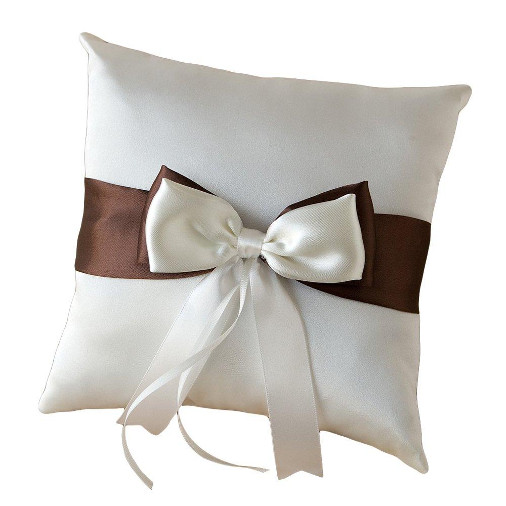 Mopec A13 - Cojín para alianzas para boda textil, color marfil