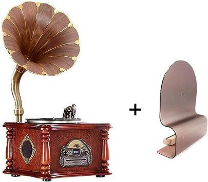LVSSY-Gramófono 33/45/78 RPM Tocadiscos de Vinilo Vintage Sala de ...