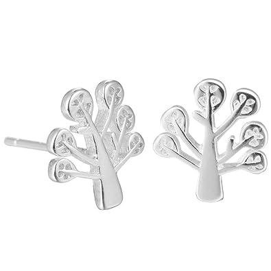 WRISTCHIE Womens 925 Sterling Silver Bicycle Bike Stud Earrings xNVzde