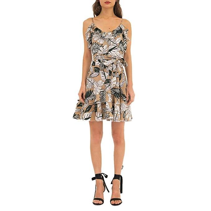 d2c5db312790 Mosstars Vestidos de Fiesta Mujer Cortos Elegantes Cintura-High ...