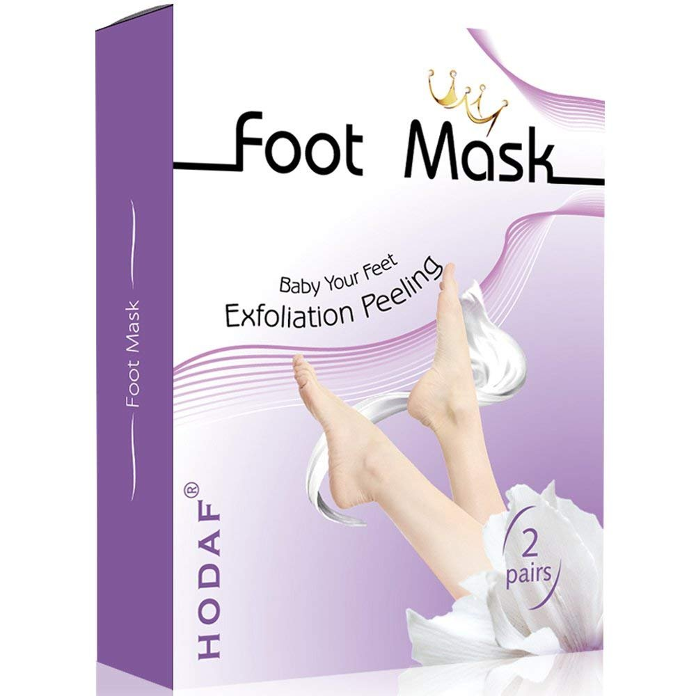 HODAF Foot Peel Mask, exfoliating Foot mask, for Getting Baby Soft feet (2 Pairs per Box)