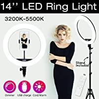 "MSKIRA 10"" Selfie Ring Light with with Remote Controller, Extendable Tripod Stand & Flexible Phone Holder for Live…"
