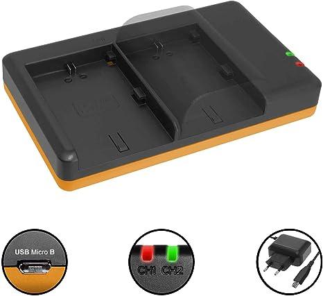 Cargador Doble (Corriente, USB) para Canon LP-E6(N) / EOS 5D Mark ...