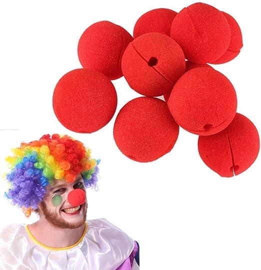 Toruiwa Clown Nariz Esponja Clown Nariz Creativo Espuma Clown ...