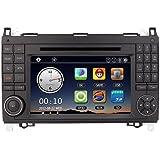 KKmoon lecteur DVD de voiture Navigation GPS 17,8cm Car Radio double 2DIN EN Voiture Dash PC Stereo Head Unit pour Mercedes-Benz A B Classe Viano Vito Sprinter + carte gratuit + Gratuit carte