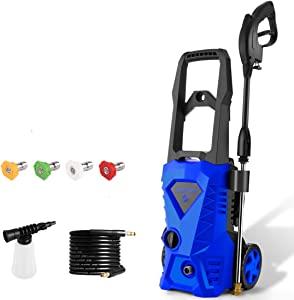 WHOLESUN 3000 PSI Pressure Washer Electric 1.8GPM High Powerful Power Washer 14.5-Amp for Home Use with Hose, Gun, and 4 Adjustable Nozzle