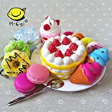 SQUISHIES Value Packs in Great Gift Worthy Packaging - Jumbo Slow Rising Kawaii Squishies PLUS Mini Squishy Toy Keychains & BONUS Sample Pack! Comes in Mix, Foodie and Dessert (Cake, Donuts)