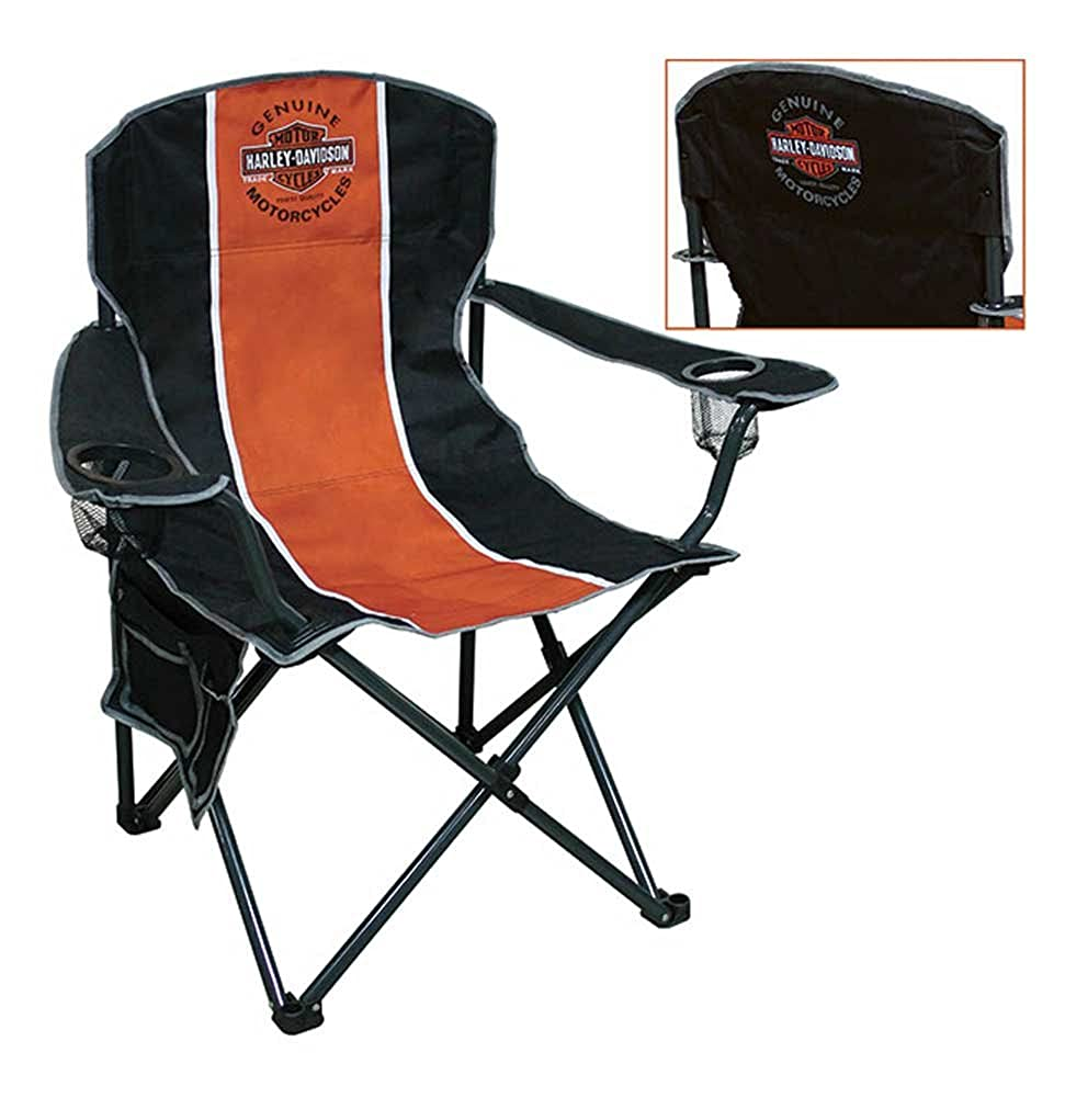 Harley-Davidson Bar Shield Compact Chair, X-Large Size w Carry Bag Set of 2