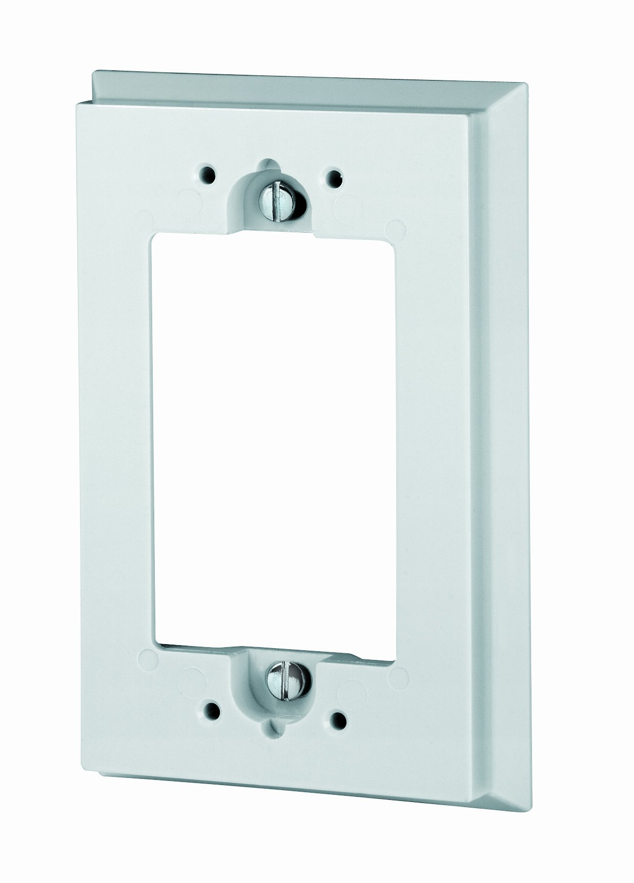 Leviton 6197-W Shallow Wallbox Extender for GFCI/Decora Device, Bulk Pack, 25 Pieces, White
