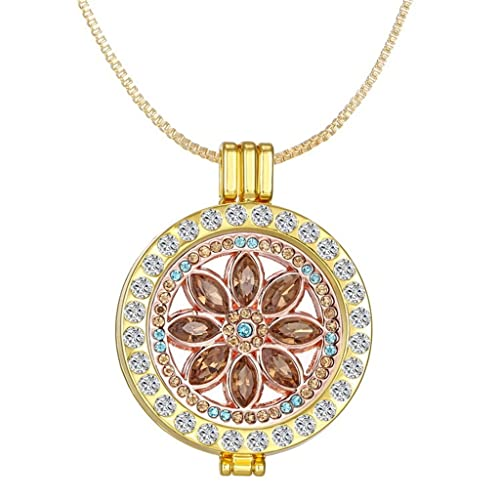 4169fd3f470ba Amazon.com: New Arrival Luxury Commemorate Coin Locket Pendant ...