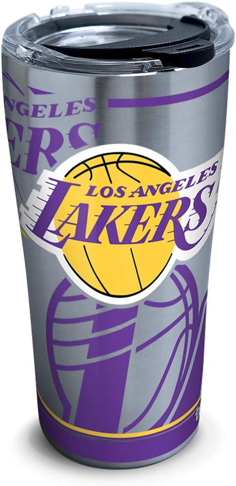 Tervis Nba Los Angeles Lakers Paint 20 Oz Stainless Steel Tumbler with Lid, 30 oz, Silver