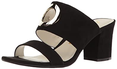 Naomi Black Mid Heel Sandals By Anne Klein vm2Duj ZY