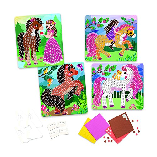 The Orb Factory Sticky Mosaics Horses Arts & Crafts, Brown/Yellow/Pink/Green, 12'' x 2'' x 10.75'' by The Orb Factory (Image #4)