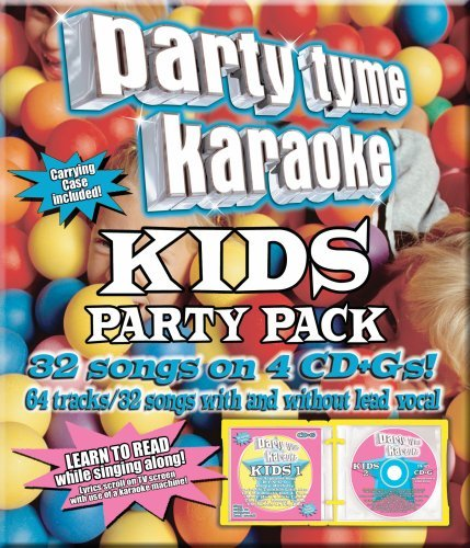 - Party Tyme Karaoke - Kids Party Pack (32+32-song Party Pack) [4 CD]