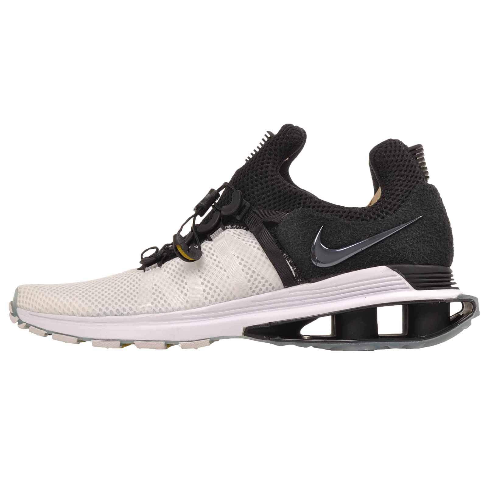 a7d2e6b868a Galleon - NIKE Men s Shox Gravity White Black White Nylon Running Shoes 8.5  (D) M US