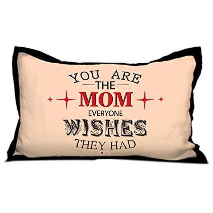 Indigifts Mother Birthday Gift Mom Love Quote Pink Pillow Cover 27x17 Inches