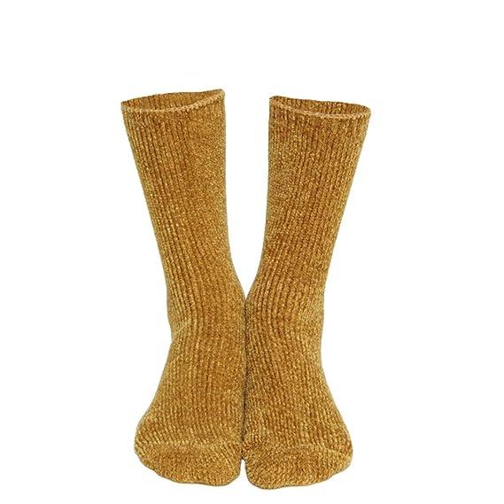 LAMEIDA Calcetín para mujer espesa calcetines simples calcetines altos calcetines antideslizantes calcetines sólidos calcetines ocasionales 1