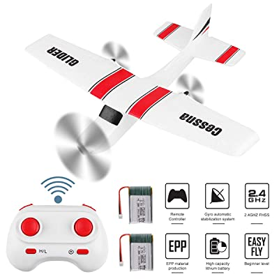 RC Plane 2 Channel 2.4GHz RC Airplane Built-in 6-Axis Gyro EPP Remote Control Airplane Ready to Fly RC Aircraft Easy to Fly for Beginner Adult Kids Boys Z53: Toys & Games