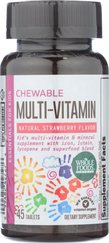 Whole Foods Market Kids Essentials Chewable Multi-Vitamin, 45 Count