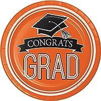 Congrats Grad Orange Dessert Plates (18 ct)