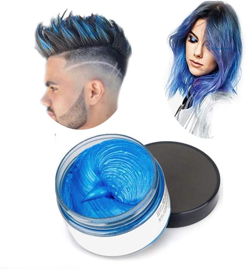 Cera de color para el cabello, modelado temporal de color natural, tinte para el cabello, peinado natural mate para fiesta, disfraces, carnaval, discoteca, Halloween