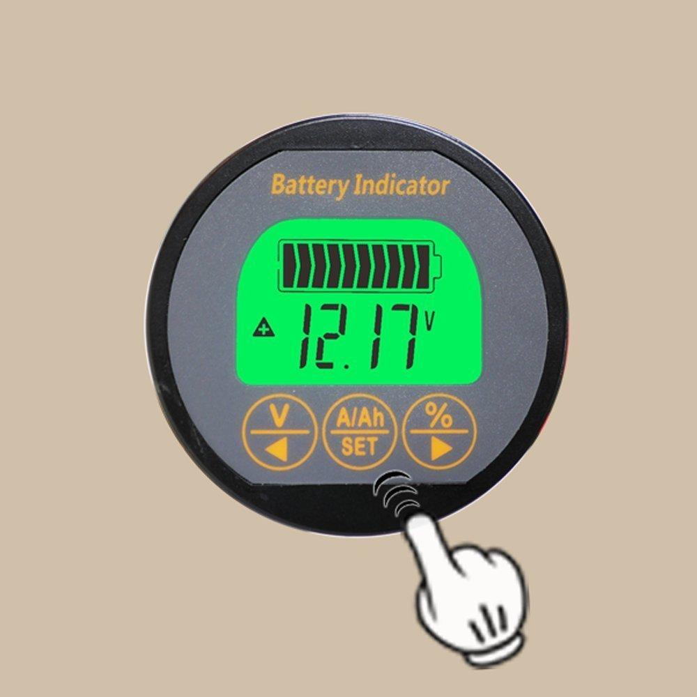 /80/V f/ür Wohnwagen RV Motorhome 999/Lithium-Eisen-Blei-S/äure-AH 350/m/ AILI Voltmeter Ammeter Spannung