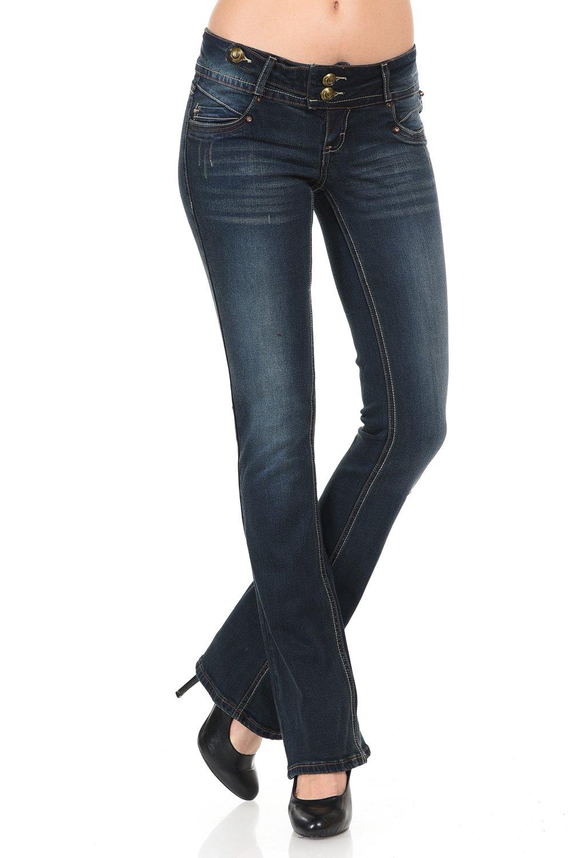 VIRGIN ONLY Women's Slim Bootcut Denim Jeans BTCTGRP_A