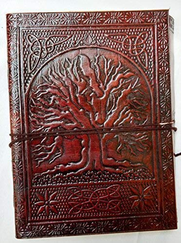 Large Fair Trade Tree Of Life Design Leather - Fair Leather Trade