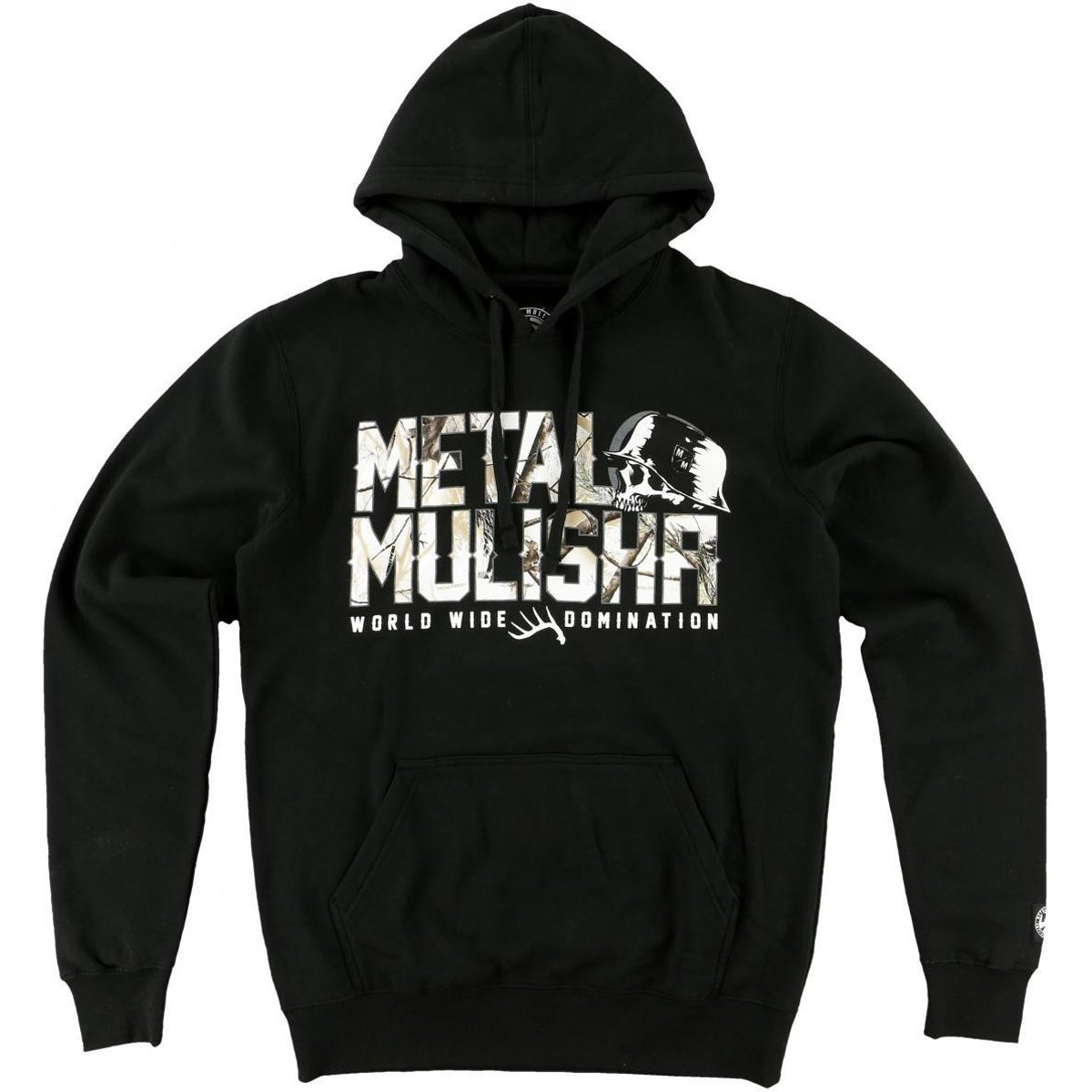 Metal Mulisha Mens Chill Hoody Pullover Sweatshirt XX-Large Black