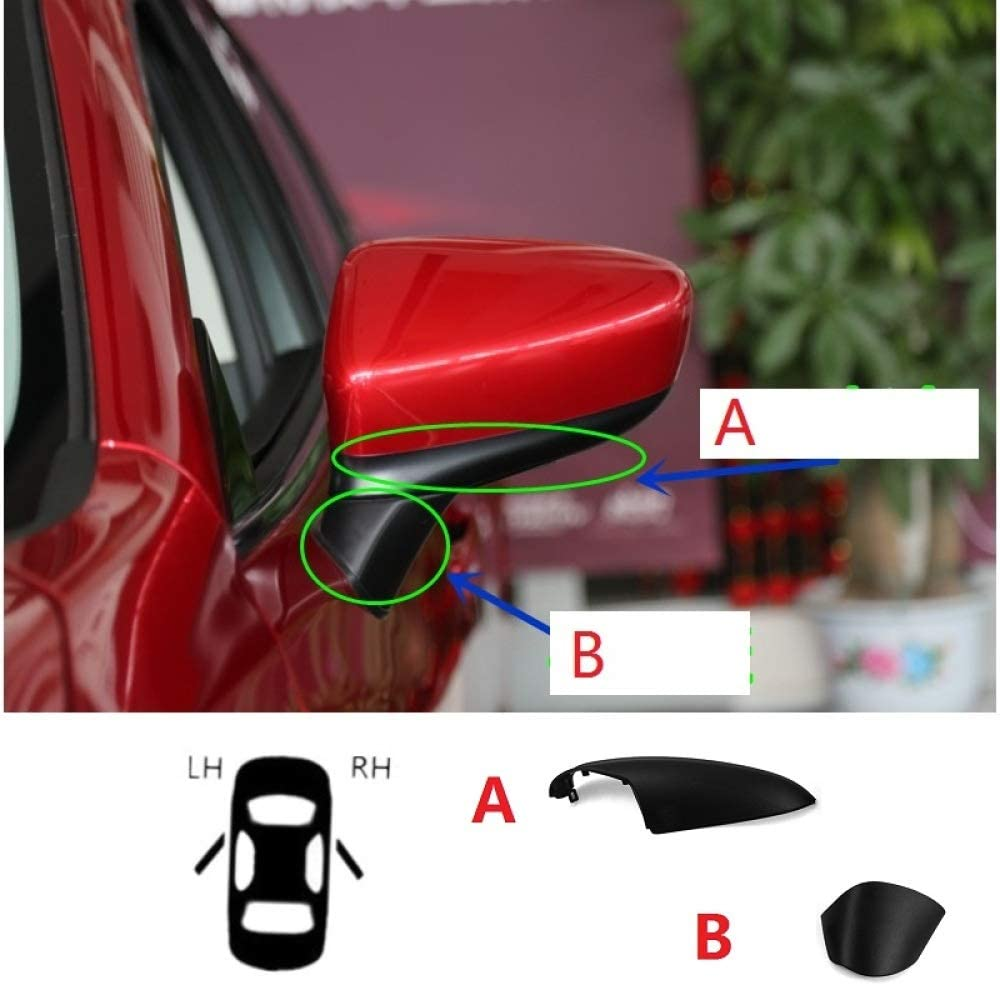 WYYYFA Rearview mirror housing For Mazda 6 Atenza 2014-2017,Car Side Door Rearview Mirror Lower Covers Wing Mirror Shell Cap