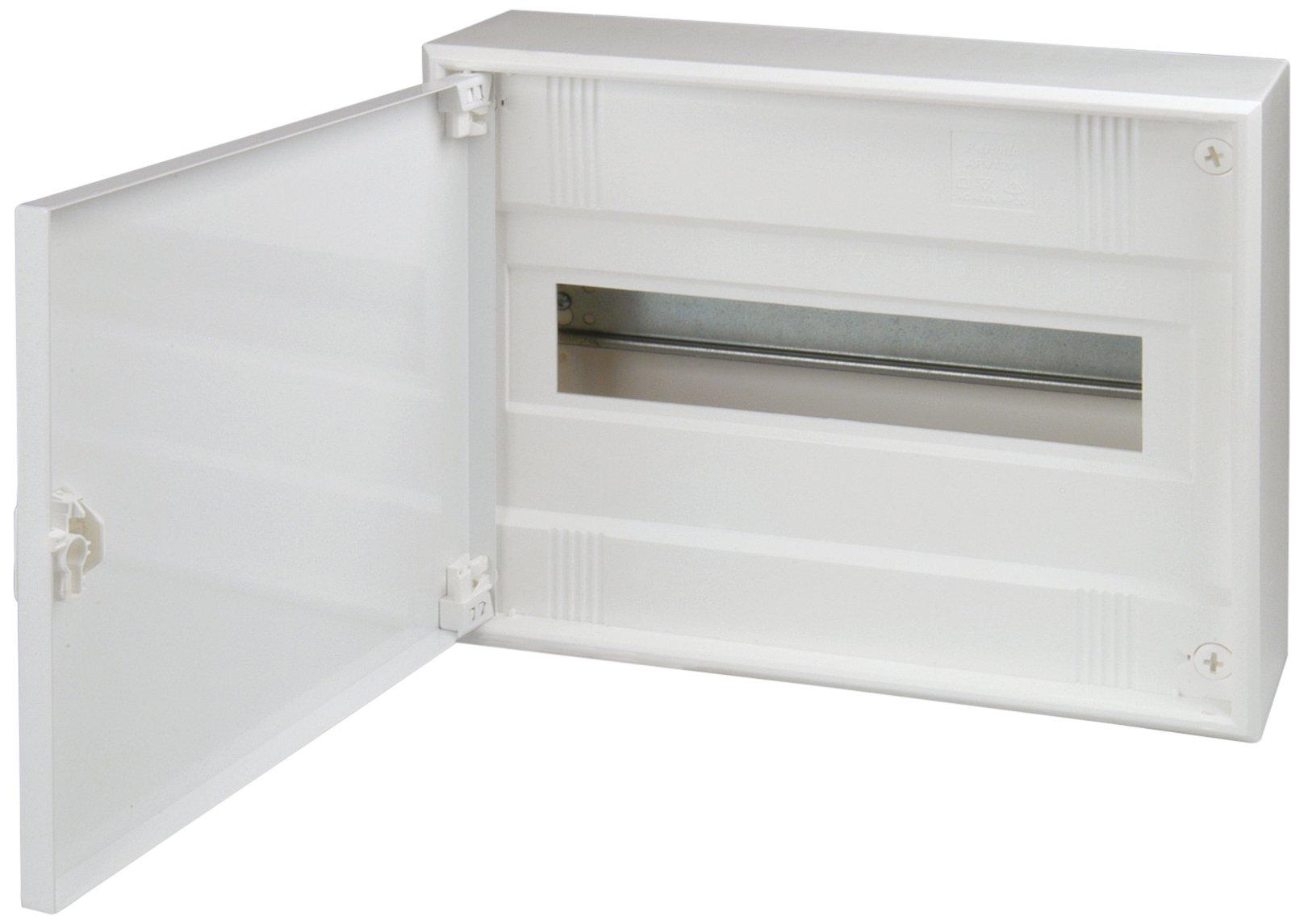 Unitec 47594Surface-Mounted Junction Box, 1Row with Steel Door
