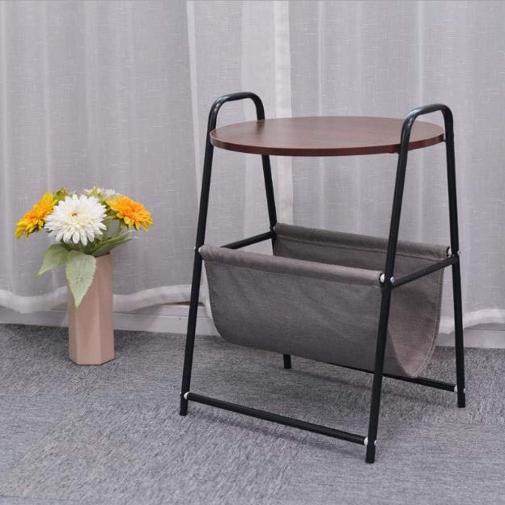 Groothandel MBZL bijzettafel, koffietafel, bijzettafel, rond bijzettafel met opbergruimte van stof, voor woonkamer, ontvangstruimte, sofa bijzettafel (45 x 38 x 67 cm) donkerbruin z6nkzD6