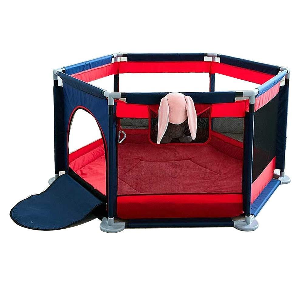 ZHANWEI ベビーサークル 六角形 オックスフォード布 ベビーフェンス 子 おもちゃ ボールプール (色 : 赤, サイズ さいず : 140x65cm) 140x65cm 赤 B07RJS3GYC