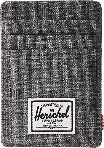 Herschel Men's RFID Wallet, Raven Crosshatch, One Size (Japanese Money Clip)