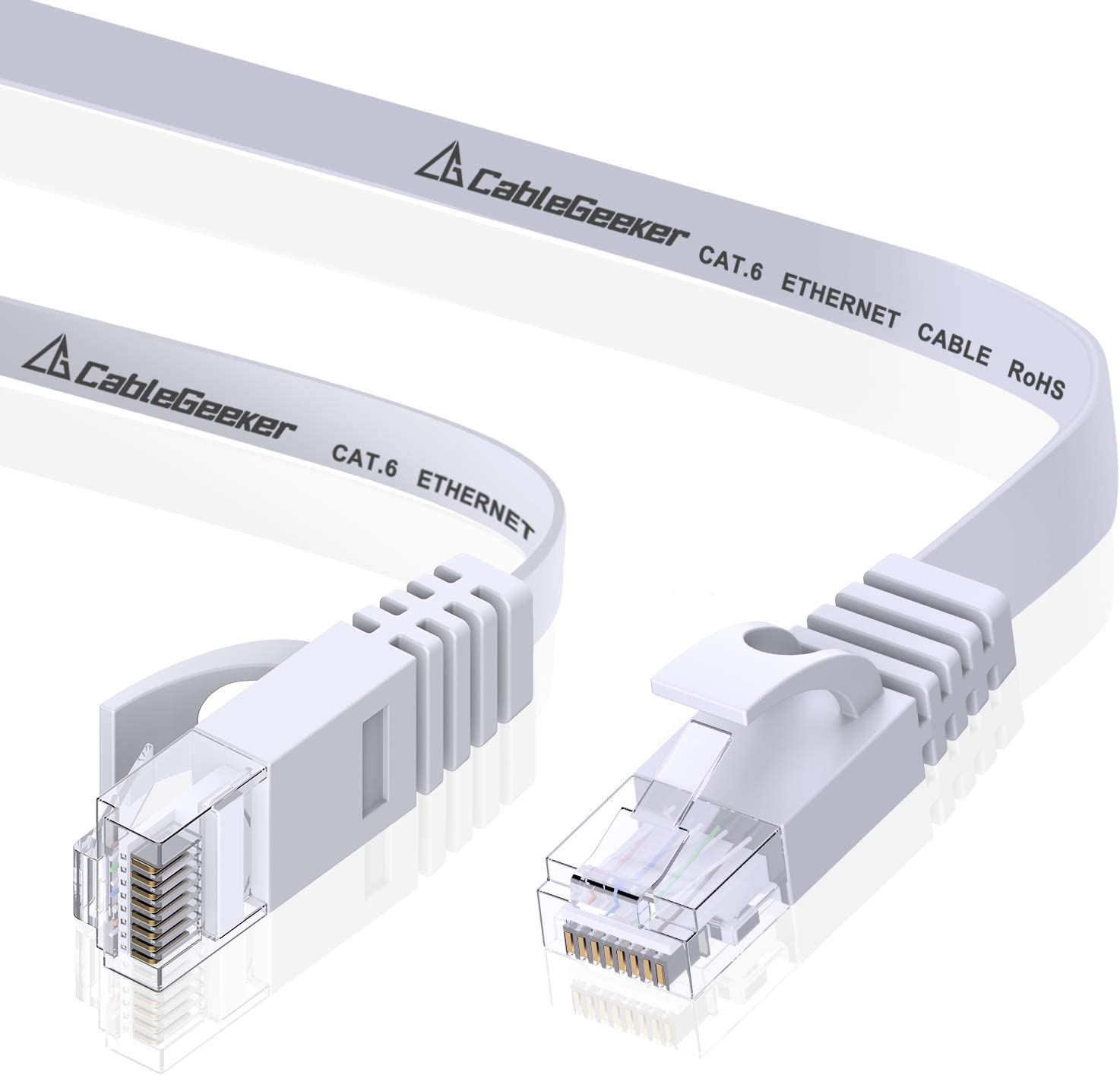 Cat6 Ethernet Patch Cable Short at a Cat5e Price but Higher Bandwidth Cat 6 Ethernet Cable 15ft Flat Internet Network Cable Cat6 Computer Cable with Snagless RJ45 Connectors Black