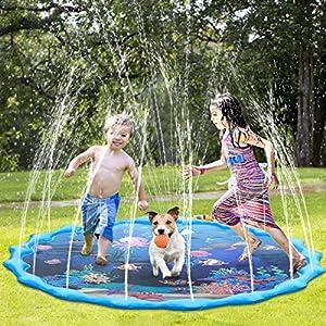 Tappetino Gioco d'Acqua per Bambini,68 Pollici Bambini Giochi d'Acqua Gioco di Spruzzi d'Acqua Tappetino,Gioco da… 6 spesavip