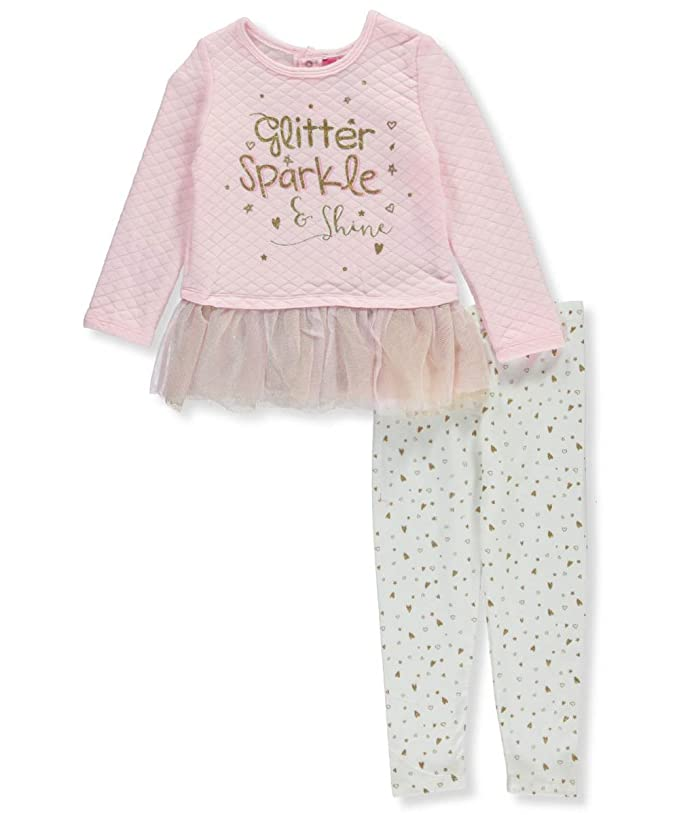 6e1a3961f7b7f Amazon.com  Kidtopia Little Girls  Toddler 2-Piece Outfit  Clothing