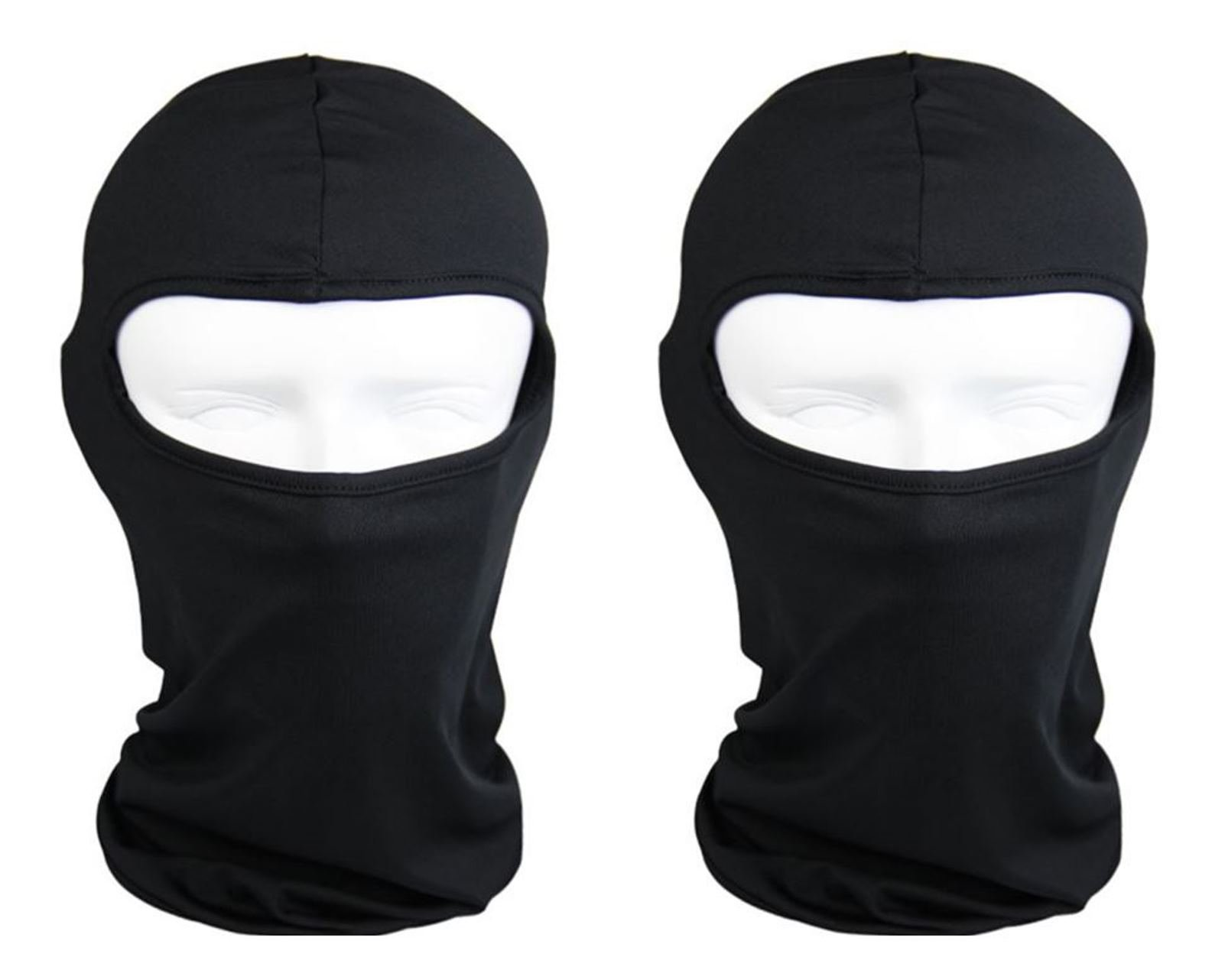 The Bikers Zone 5 Pack- Cotton Stretchable Balaclava Face Mask, Ski Mask, Helmet Liner (Black)