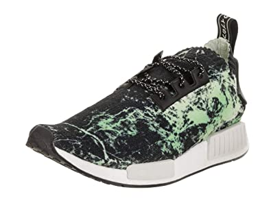 c35e81fd4 adidas NMD R1 Primeknit Men s Shoes Core Black Cloud White Aero Green  bb7996 (5