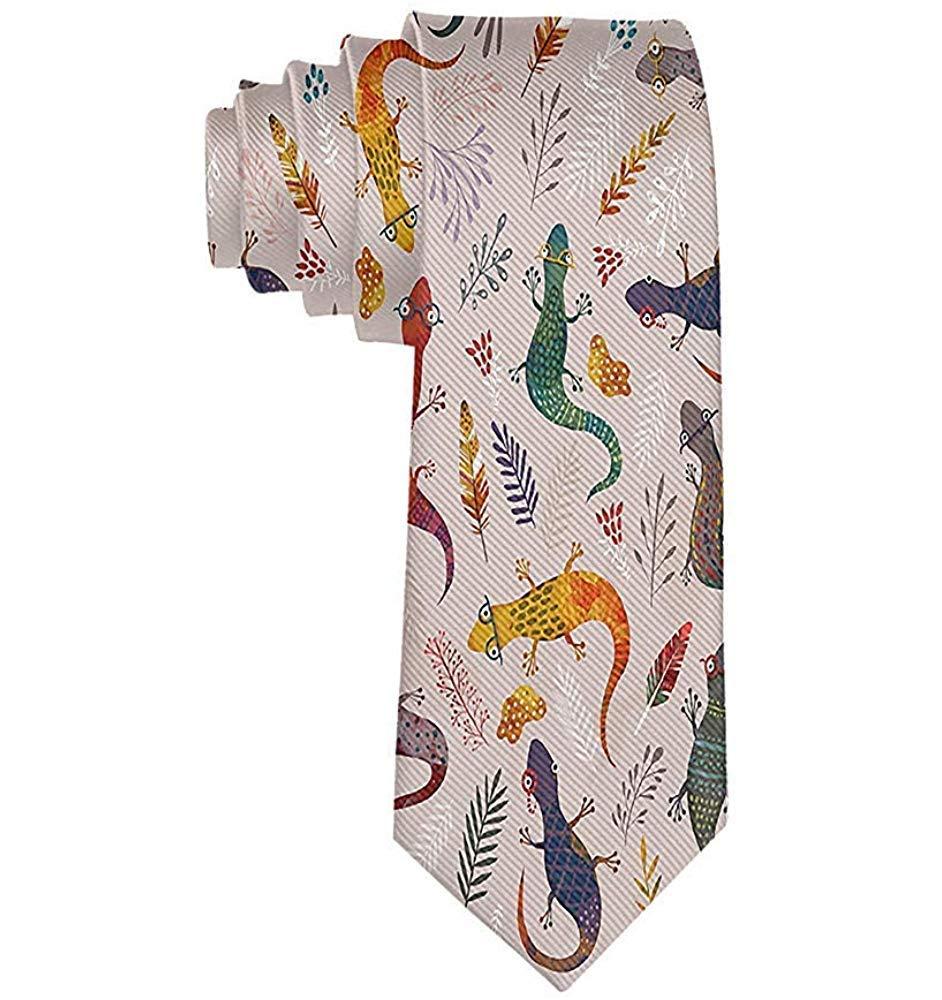 Corbata de lagarto de dibujos animados de moda para hombres ...
