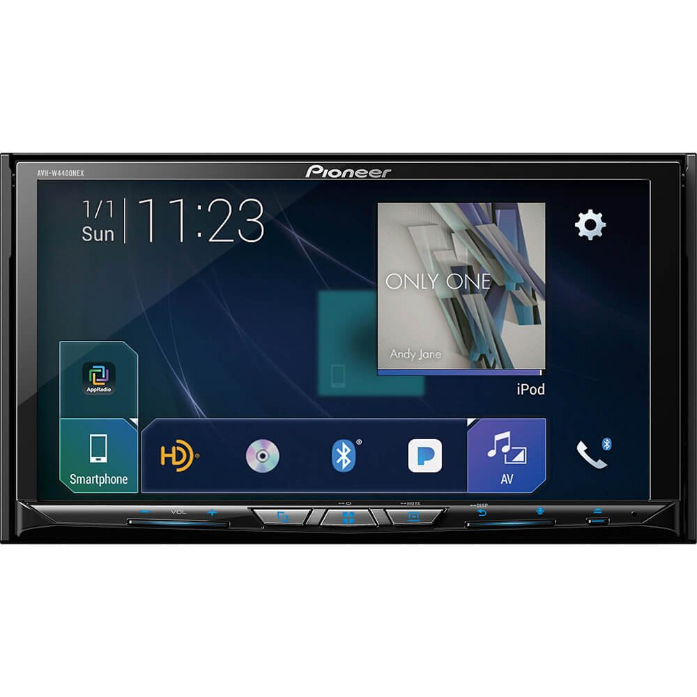 Pioneer AVH-W4500NEX Double DIN Wireless Mirroring Android Auto, Carplay in-Dash DVD CD Car Stereo Receiver, 7 Touchscreen Backup Camera Mobile Phone Holder