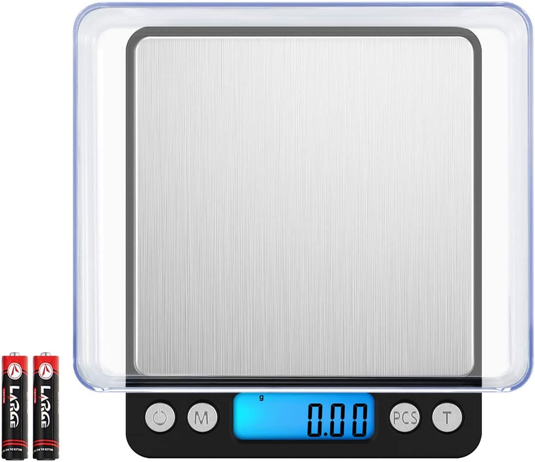 (NEW VERSION) Digital Food Kitchen Scale, 1.1lbs 500g Max, Highly Accurate Multifunction Food Scale, Electronic Smart Scale (Battery Included) 618yPEmmoCL