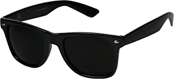 81d2c52d3d9 Basik Eyewear. ShadyVEU - Super Dark Lens Retro Vintage Inspired 80s Spring  Hinge 80 s Sunglasses