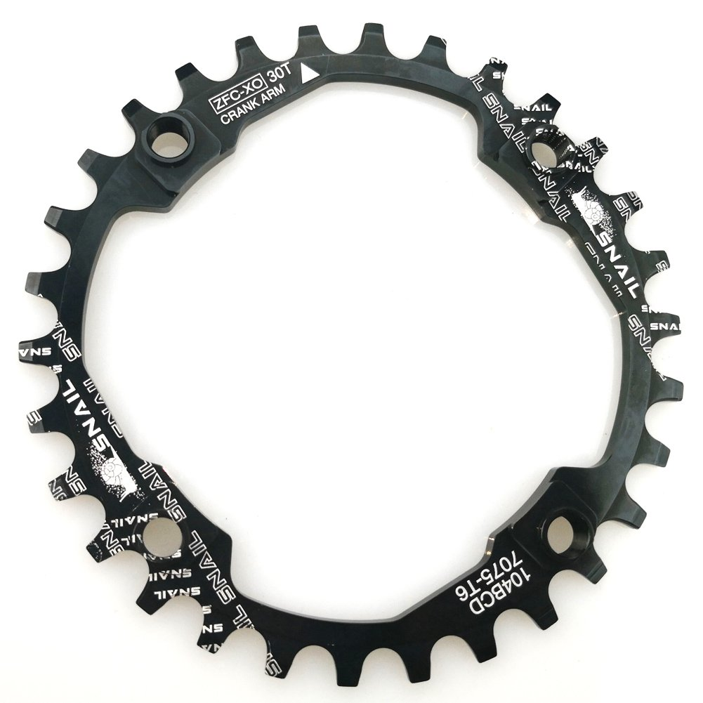 FOMTOR 30T Chainring 104 BCD Narrow Wide Chainring with Four Chainring Bolts for Road Bike, Mountain Bike, BMX MTB Fixie Bicycle (Black) by FOMTOR